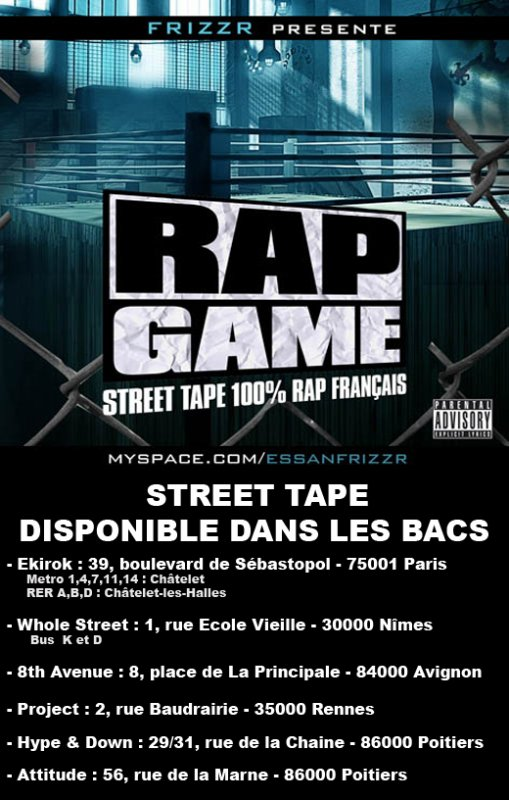 Frizzr presente RAP GAME STREET TAPE 25/12/2008