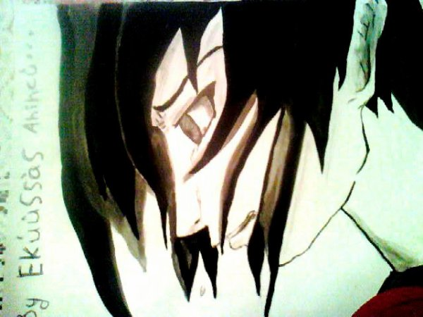 mon dessin sasuke uchiha