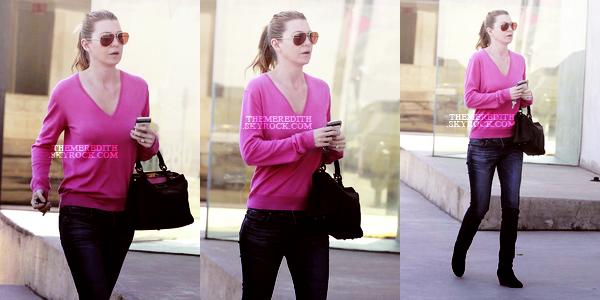 ellen __________10.02.2012 _______ ↪ Ellen a été apercue allant faire du shopping a Maxfield.   Top : elle été vétue d'un pull rose, d'un jean tous simple et de bottines compensés, Top ou Flop ?  ellen