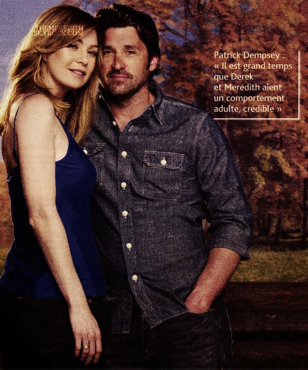 ellen __________FEVRIER 2012 _______ ↪ Meredith et Derek dans TVmagasine, pour le final de la saison 7   ellen