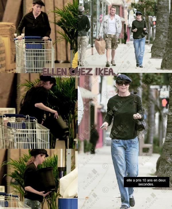 .. 27/02/2012 : Ellen allant faire du shopping a Ikea, a Los Angeles. FLOP, berret, jean large.. mais quesqu'il lui arrive. et toi tu pense top / bof / flop ?  ..