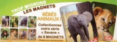 "FRUITE P'TIT YAOURT:BEBES ANIMAUX""SERIE SAVANE"""