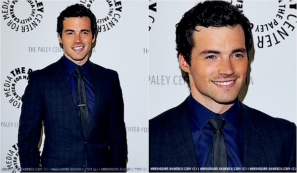 "19/07/2013 : Ian présent au Paley Center parle de ""Pretty Little Liars ."""