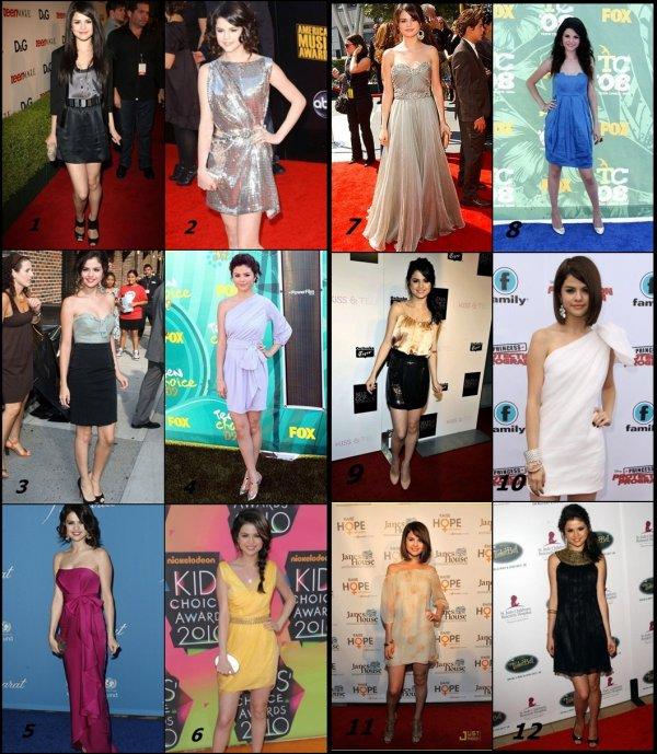 Laquelles des robes de Selena aimes-tu ????