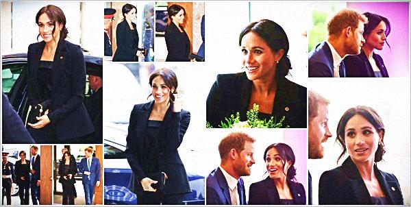 """. .29.08.2018.▬Meghan et le Prince Harry ont de nouveau été à un événement. Cette fois-ci aux """"WellChild Awards"""" à Londres. ● C'est encore dans une tenue sombre qu'on a pu voir Meghan, j'espère voir de la couleur dans ses prochains événements.. Petit TOP ! ."""
