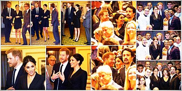 """. .29.08.2018.▬Meghan Markle rempli son rôle de Duchesse en assistant à la représentation du gala """"Hamilton"""" à Londres. ● Elle était toujours accompagné de son époux et ils semblent avoir passé un bon moment, les éclats de rire en témoignent. Un TOP ! ."""