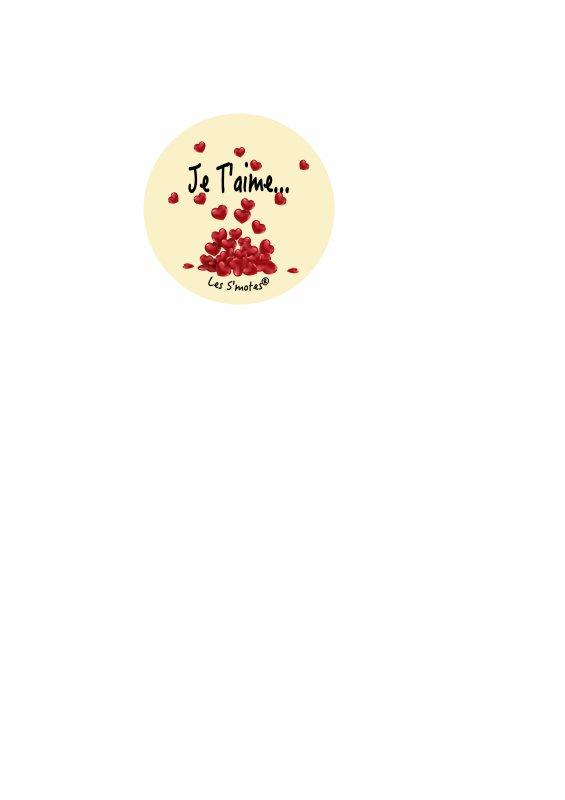 Magnets et badges personnalisés pour la st Valentin avec les S'motes