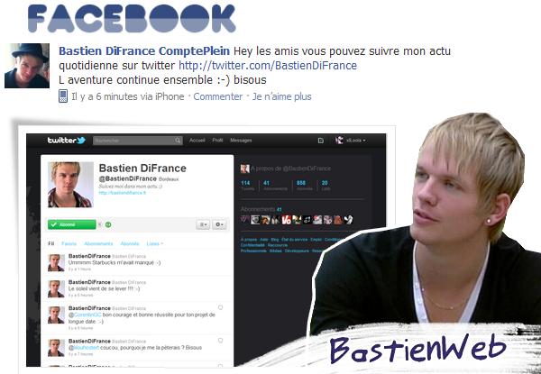 Statut Facebook de Bastien le 3/11/10 à 15:50