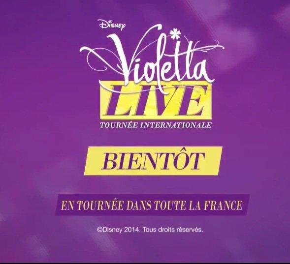 Violetta en tournée dans toute la France ! Génial !