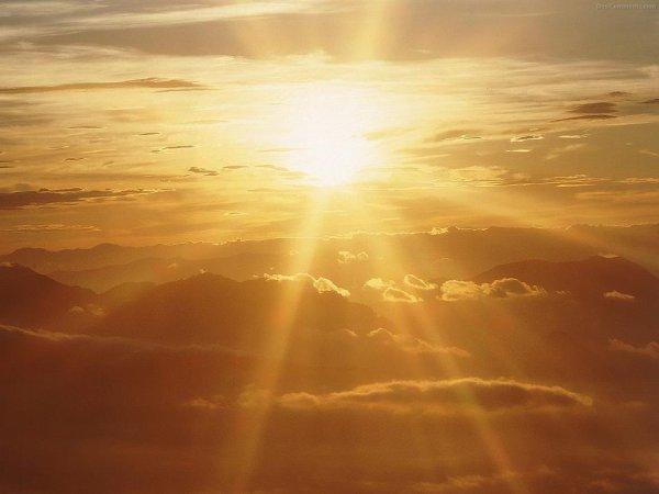 doux rayon de soleil ce matin