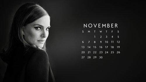calendrier novembre 2016 Natalie Portman
