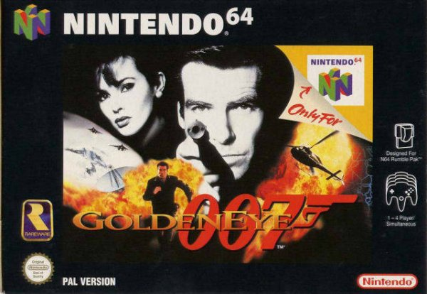 Golden eye N64 Roger Moore -Moonraker