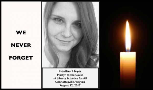 Heather Heyer RIP /Incident à Charlottesville