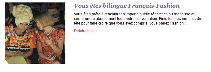 Le magasine BE vous propose un test de language mode .