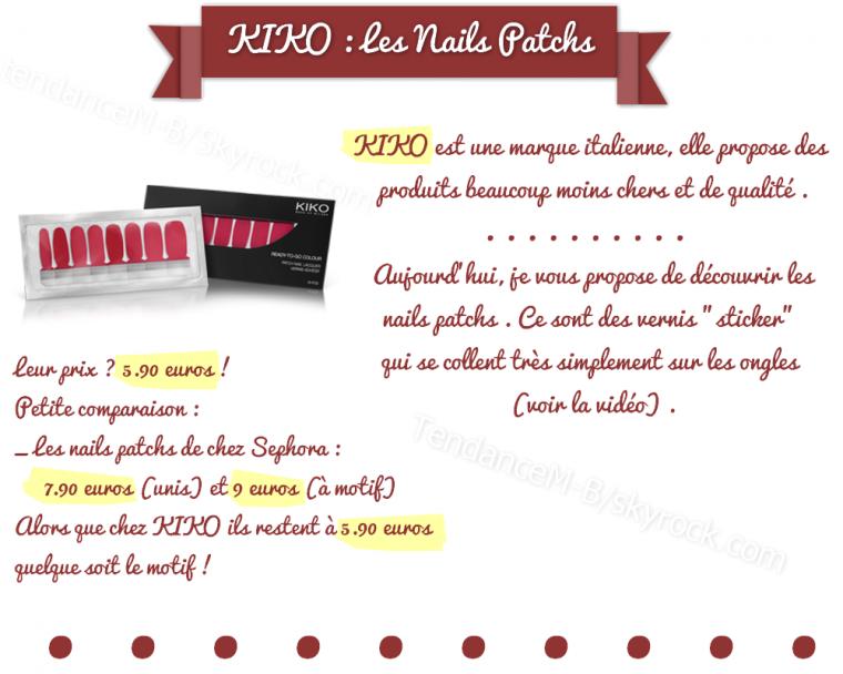 ► Les Nails Patchs KIKO, le vrai bon plan rapide et pas cher !