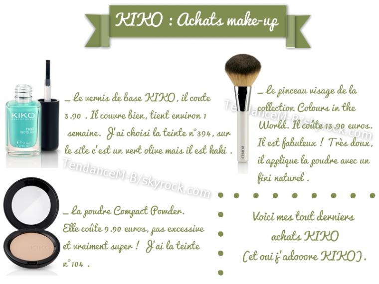 ► KIKO, ma marque make-up pas chère et de super qualité ! ♥♥♥