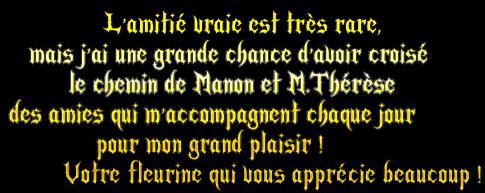 ....kado  de  ma  s½ur  de  c½ur   Fleurine... que  j'adore   bisous  ta  Manon...