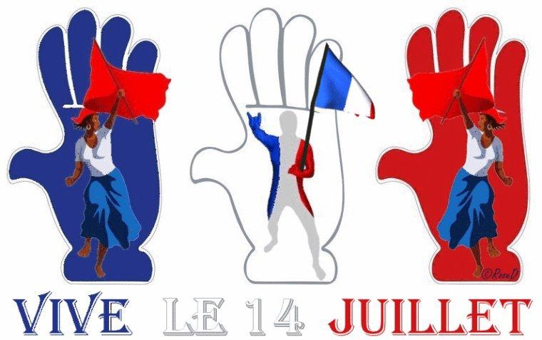 ...Bon    14    Juillet   a    Tous....Bisous   Manon..