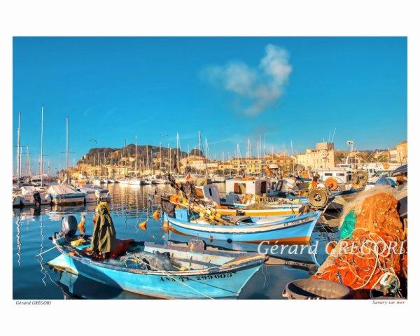 32 provence-sanary-sur-mer-le port-pointus-filets de pêche-Gérard GRÉGORI