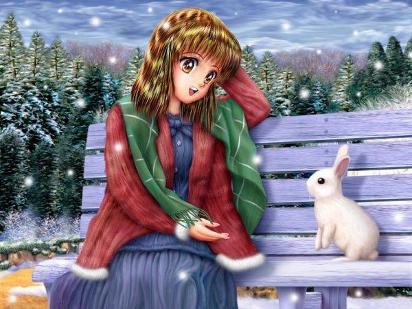 Le lapin blanc de Noel!!!!!!