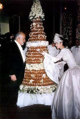 gateau de mariage de celine dion