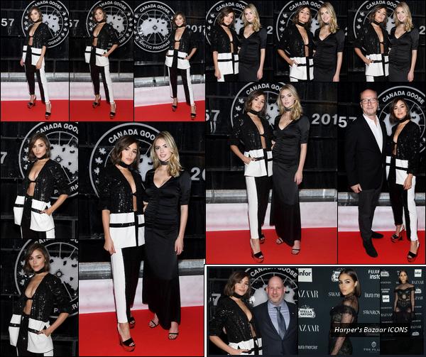 . 09/09/2017: Olivia Culpo  était présente à la célébration du 60ème anniversaire de Canada Goose à Toronto.  La veille, Olivia était présente à la Harper's Bazaar ICONS party lors de la fashion week de New-York. J'aime beaucoup Oli sur ces deux events. Top!   .