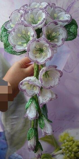 bouquet blanc et mauve