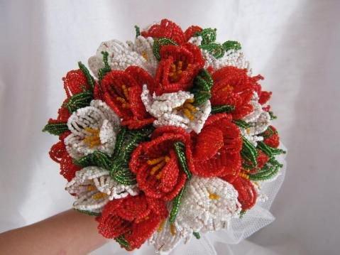 bouquet rouge et blanc