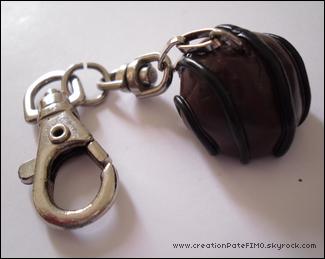 .~ Porte-clé Chocolat - [ propriété de www.creationPateFIMO.skyrock.com ] .