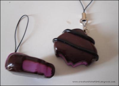 .~ Straps Chocolats fourrés - [ propriété de www.creationPateFIMO.skyrock.com ] .