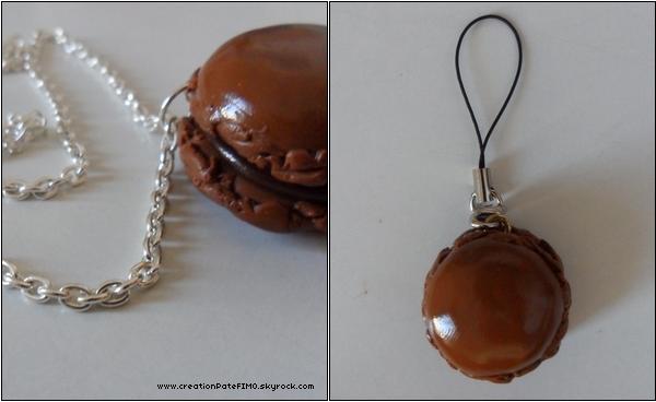 .~ Collier/Straps Macaron caramel  - [ www.creationPateFIMO.skyrock.com ] .