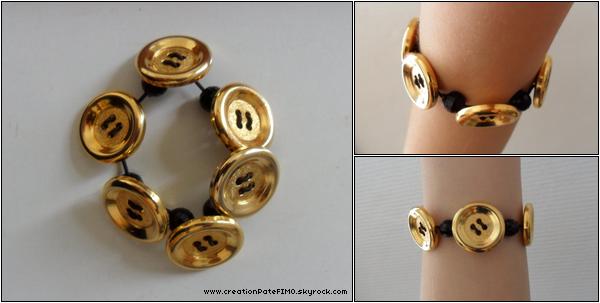.~ Bracelet Boutons dorés - [ www.creationPateFIMO.skyrock.com ] .