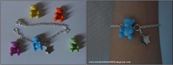 .~ Bracelet Nounours - [ www.creationPateFIMO.skyrock.com ] .