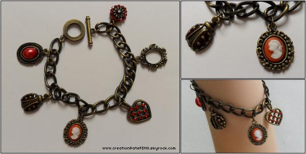 .~ Bracelet style Victorien - [ www.creationPateFIMO.skyrock.com ] .