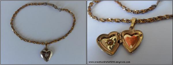 .~ Bracelet ancien Coeur - [ www.creationPateFIMO.skyrock.com ] .