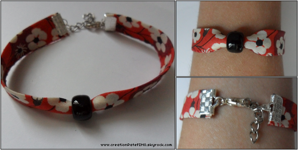 .~ Bracelet Liberty Rouge - [ www.creationPateFIMO.skyrock.com ] .
