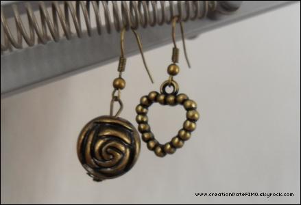 .~ Boucles d'oreilles style ancien - [ www.creationPateFIMO.skyrock.com ] .