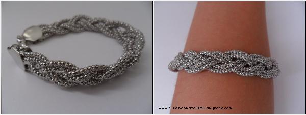 .~ Bracelet argenté - [ www.creationPateFIMO.skyrock.com ] .