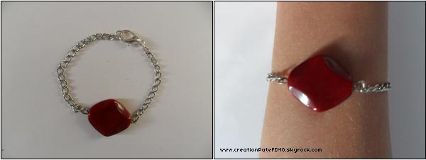 .~ Bracelet Losange rouge - [ www.creationPateFIMO.skyrock.com ] .
