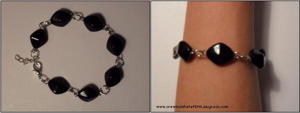 .~ Bracelet chic noir - [ www.creationPateFIMO.skyrock.com ] .