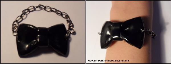 .~ Bracelet Noeud noir 2011 - [ www.creationPateFIMO.skyrock.com ] .