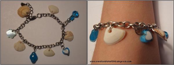.~ Bracelet Coquillages - [ www.creationPateFIMO.skyrock.com ] .