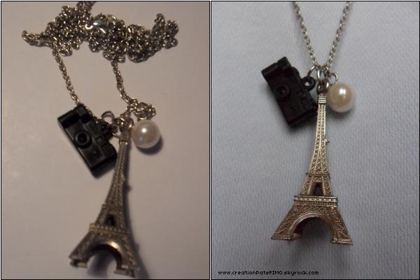 .~ Sautoir Tour Eiffel - [ www.creationPateFIMO.skyrock.com ] .