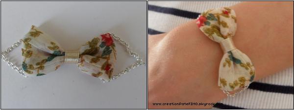 .~ Bracelet Noeud en tissu - [ www.creationPateFIMO.skyrock.com ] .