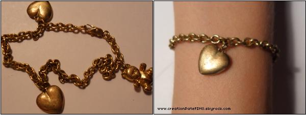 .~ Bracelet doré non réglable - [ www.creationPateFIMO.skyrock.com ] .