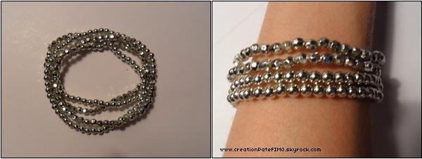 .~ Lot de 4 bracelets argentés - [ www.creationPateFIMO.skyrock.com ] .