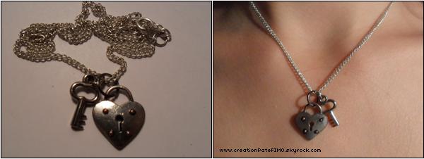 .~ Collier cadenas et clef - [ www.creationPateFIMO.skyrock.com ] .