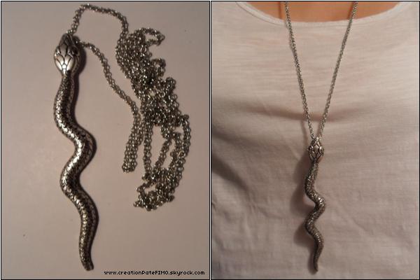 .~ Sautoir Serpent - [ www.creationPateFIMO.skyrock.com ] .