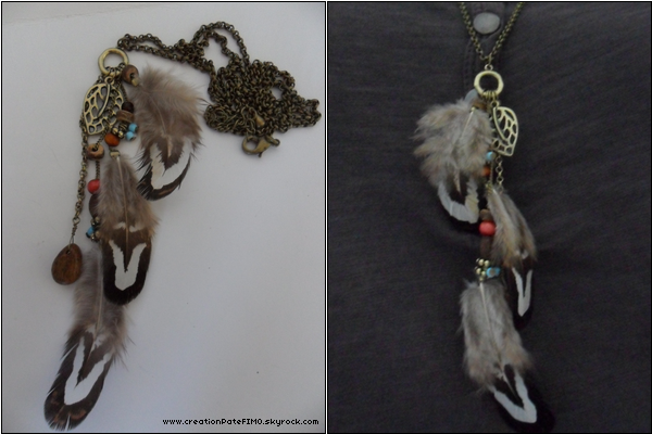 .~ Collier 3 plumes - [ www.creationPateFIMO.skyrock.com ] .