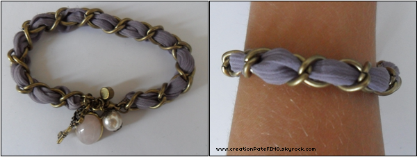 .~ Bracelet ruban violet - [ www.creationPateFIMO.skyrock.com ] .